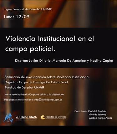 III encuentro en el Seminario de investigación sobre violencia institucional
