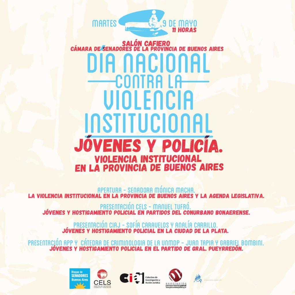 Jornada Jóvenes y Policial. Violencia institucional en PBA. 9/5  11 hs